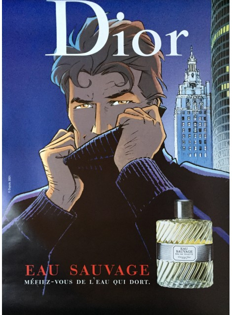 Philippe Franck. Dior, Eau sauvage, Largo Winch. 2001.