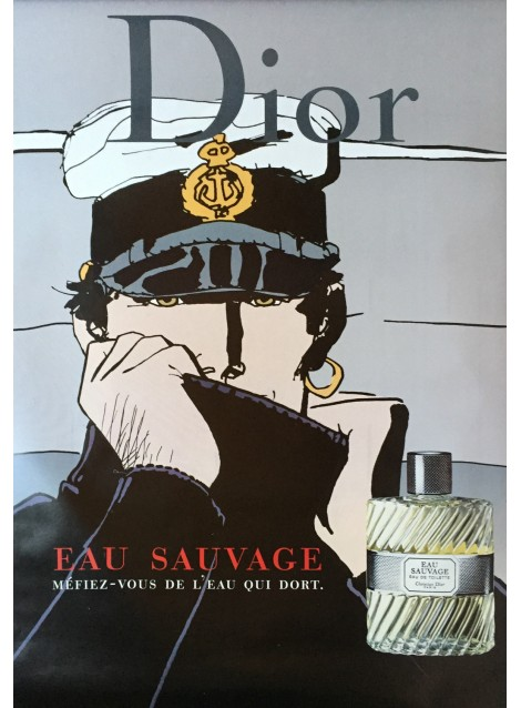 Hugo Pratt. Dior, Eau sauvage, Corto Maltese. 2001.